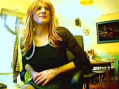 Crossdresser in the office