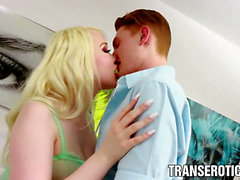 gigantic bap transgender princess Sarina Valentina fucked and creampied