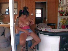 Big boobed dicky babysitter Stephanny Tricks gives head