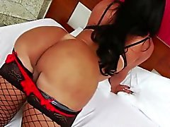 Busty Tgirl Thalya gets fucked on butt