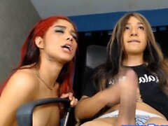 Redhead Shemale Being Horny With Another Ts