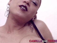 Shemale Beauty Camilla Jolie Jerking Her Cock