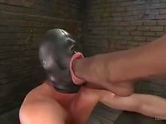 Mistress Yasmin slave sucks her big cock