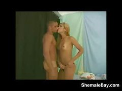 Beautiful Shemale Fucked By A Horny Guy