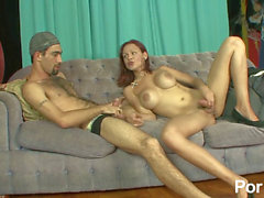 Red head t-girl sans a condom latinos backside