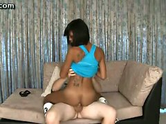 Ebony shemale chick riding swagger