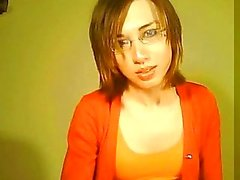 Petite tranny play with cock on webcam