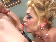Dirty Talking Tranny Devours Cock