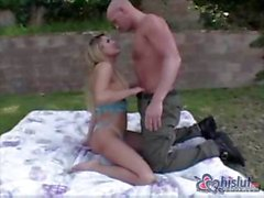 Carmen Cruz is back for more outdoor sex